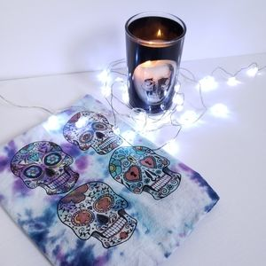 Skeleton Head String Lights Battery Operated